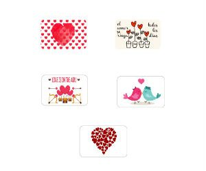 Saint Valentin inspired stickers