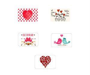 Saint Valentin inspired stickers