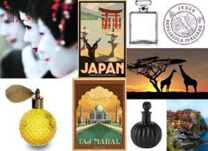 We propose a trip around the world: Perfumes of the World