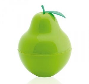 GREEN PEAR FRUIT SHAPE PLASTIC PERFUME SPRAY. PURSE SHAPE ATOMIZER / 60 ML