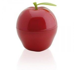 RED APPLE SHAPE PLASTIC PERFUME SPRAY. PURSE SHAPE ATOMIZER / 40 ML