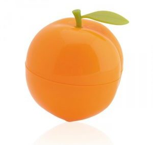 PEACH FRUIT SHAPE PLASTIC PERFUME SPRAY. PURSE SHAPE ATOMIZER / 34 ML