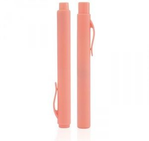 PALE SALMON PEN SHAPE PERFUME SPRAY. PLASTIC. PURSE SIZE. ATOMIZER. AT241 / 6 ML