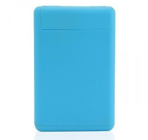 TURQUOISE BLUE RECTANGULAR SHAPE PLASTIC PERFUME SPRAY / 20 ML