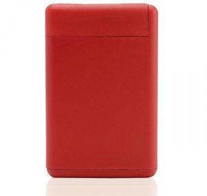 RED RECTANGULAR SHAPE PLASTIC PERFUME SPRAY / 20 ML