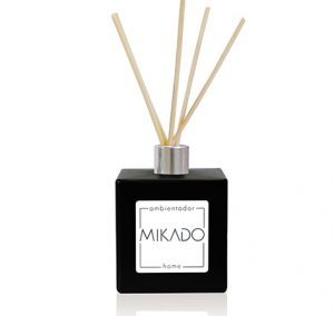 BLACK SQUARE CERAMIC MIKADO BOTTLE / 100 ML