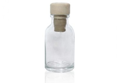 ANTIBIOTIC TRANSPARENT GLASS BOTTLE / 23 ML