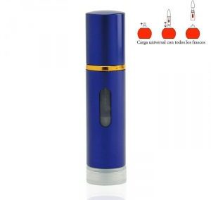REFILLABLE LIGHT HEART PRINTED PERFUME SPRAY. LIPSTICK SHAPE ATOMIZER. PURSE SIZE.  5  ML