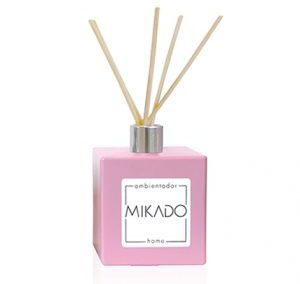 PASTEL PINK SQUARE CERAMIC MIKADO BOTTLE / 100 ML