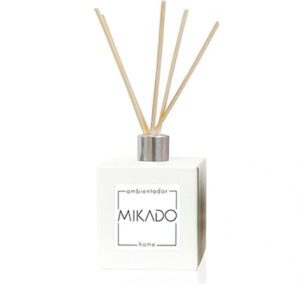 WHITE SQUARE CERAMIC MIKADO BOTTLE / 100 ML