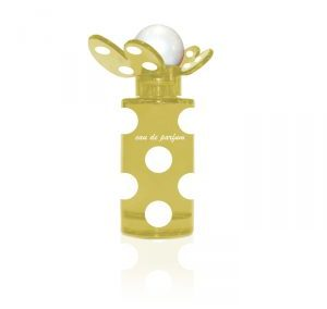 Yellow butterfly perfume bottle 50 ml. Crimped Bottle.