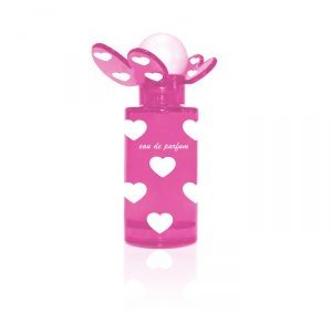 Pink butterfly perfume bottle 50 ml. Crimped Bottle.