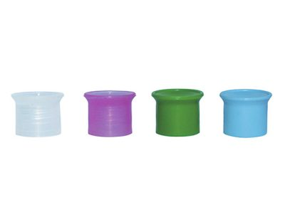 ASSORTED COLORS PLASTIC CAPS