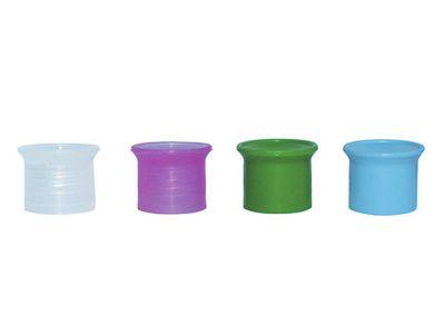 ASSORTED COLORS PLASTIC CAPS