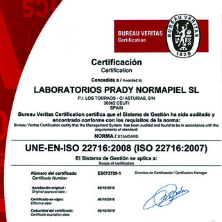 OUR PERFUME FACTORY AWARDED WITH THIRD BUREAU VERITAS CERTIFICATION