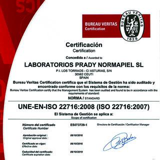 Nuestra fábrica de perfume consigue tercera certificación Bureau Veritas
